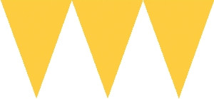BANDERIN TRIANGULOS: AMARILLO 4.5M