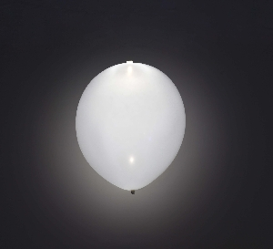 GLOBO LATEX CON LED BLANCO