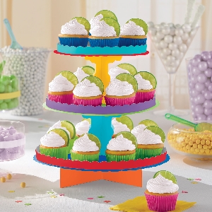 Stand Primary Colour 3 Level Treat Stands 29cm