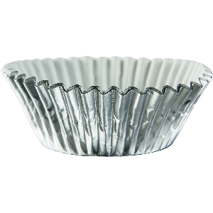 Molde Cup CakeSilver Cupcake Cases 50mm