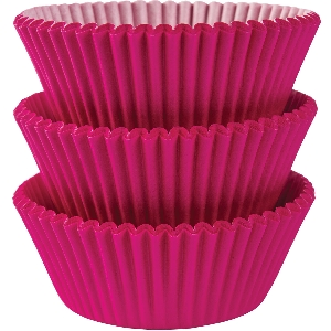 Molde Cup CakeBright Pink Cupcake Cases 50mm
