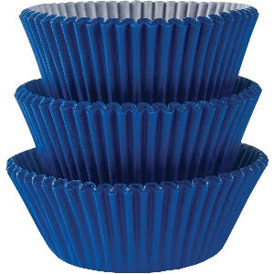 Molde Cup CakeBright Royal Blue Cupcake Cases 50mm