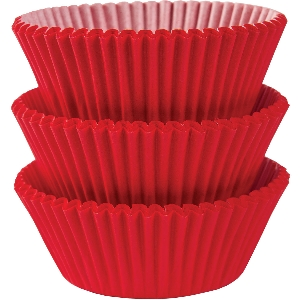 Molde Cup CakeApple Red Cupcake Cases 50mm