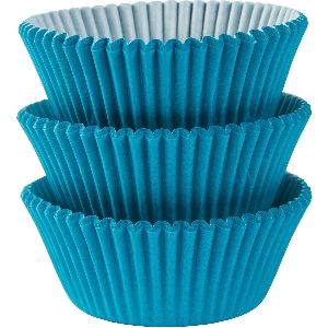 Molde Cup CakeCaribbean Blue Cupcake Cases 50mm