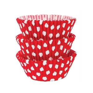 Molde Cup CakeApple Red Dots Cupcake Cases 50mm
