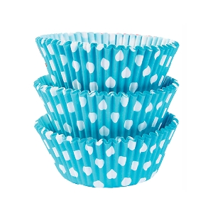 Molde Cup CakeCaribbean Blue Dots Cupcake Cases 50mm