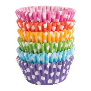 Molde Cup CakeDots Rainbow Cupcake Cases 50mm