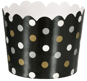 Cesta Black Buffet Mini Scalloped Cups