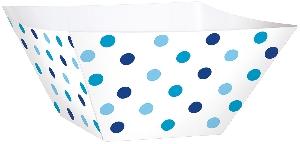 Cesta Blue Buffet Paper Square Bowls