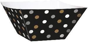 Cesta Black Buffet Paper Square Bowls