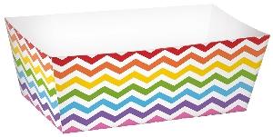 Bandeja Rainbow Buffet Paper Rectangle Trays