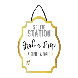 Pizarra Selfie Station Sign 28cm x 38cm