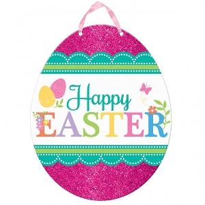 PANCARTA GLITTER VALUE EASTER EGG