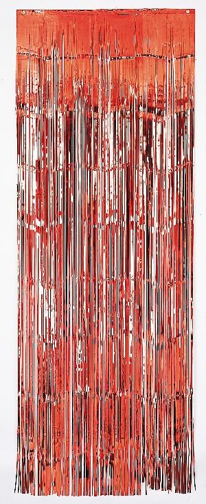 Cortina Puerta met:red