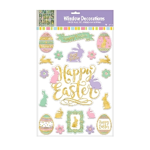 DECOR. VENTANA EMBOSSED EASTER