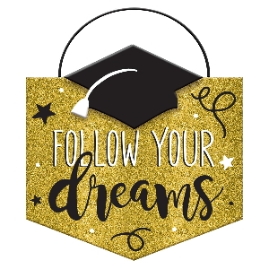 PANCARTA MINI MSG GRAD FLLW DREAM