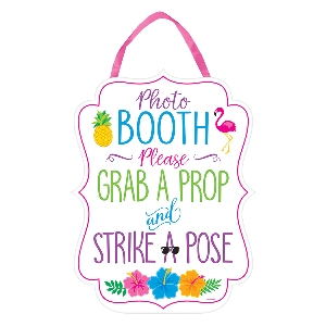 Pizarra Hawaiian Photo Booth Signs 29cm x 38cm