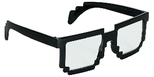 Gafas Fun Shades Pixilated Black Clear
