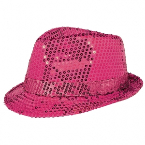 Gorro Team Spirit - Hat Fedora Sequin Pink
