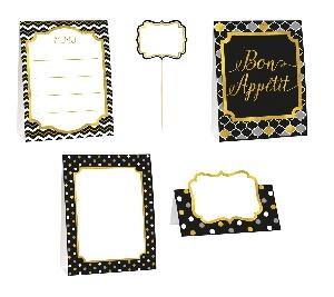 Marca sitios Black Buffet Decorating Kit
