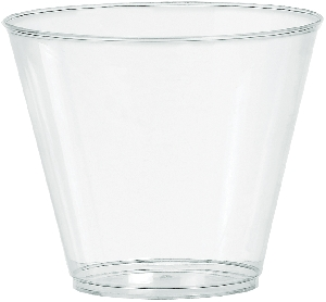 Vaso grande 266ml 100ct plas:clear