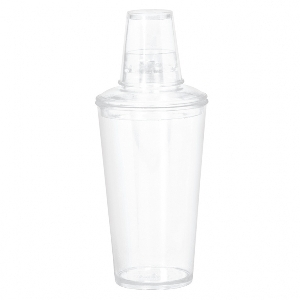 COCKTAIL SHAKER CLEAR