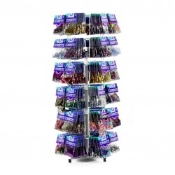 Acc expositor Counter Top Confetti Spinner Stand - 36 Hooks- 86cm h, 25cm w