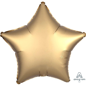 "18""/45cm ESTRELLA  Satin Gold Sateen Star"