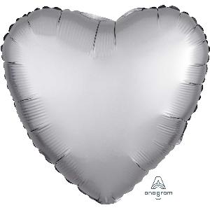 "18""/45cm CORAZON Satin Platinum Heart (EMPAQUETADOS)"