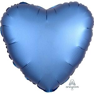 """18""""/45cm CORAZON Satin Azure Heart (EMPAQUETADOS)"""