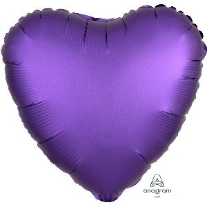 "18""/45cm CORAZON Satin Purple Royale Heart (EMPAQUETADOS)"