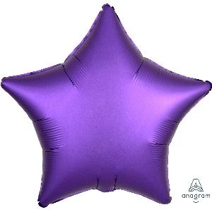 """18""""/45cm ESTRELLA  Satin Purple Royale Star (EMPAQUETADOS)"""