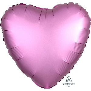"18""/45cm CORAZON Satin Flamingo Heart"