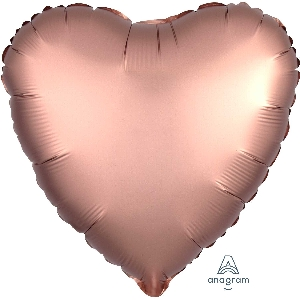 "18""/45cm CORAZON Satin Rose Copper Heart (EMPAQUETADOS)"
