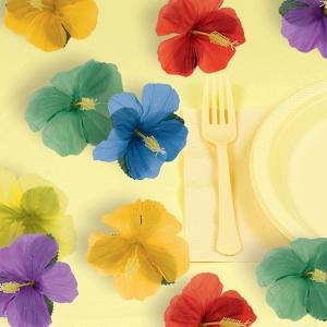 FLOWERS FABRIC HIBISCUS LUAU