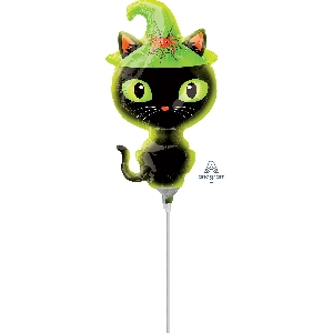 Black Kitty Mini Shape Foil Balloons