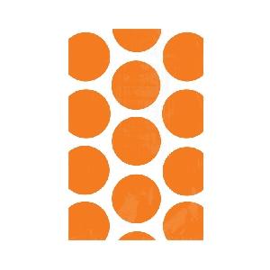 Bolsa Candy Buffet Polka Dots  Orange
