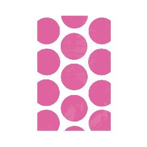 Bolsa Candy Buffet Polka Dots  Bright Pink