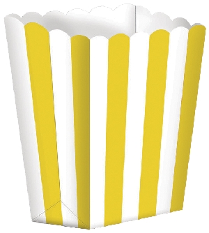 Bolsa Candy Buffet Popcorn Boxes Sun Yellow