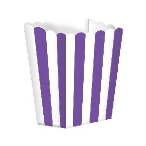 Bolsa Candy Buffet Popcorn Boxes Purple