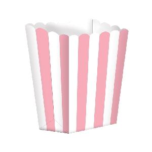 Bolsa Candy Buffet Popcorn Boxes Light Pink
