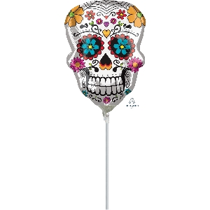 Sugar Skull Mini Shape Foil Balloons A30