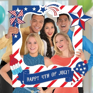 Photo Kit 4th of July Giant Customisable Selfie Frames 76cm x 88cm