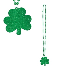 COLLAR WITH GLITTER SHAMROCK