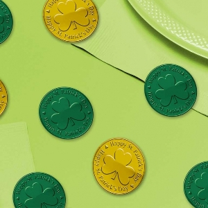 JUGUETE pkg:COINS pk100 grn/gold