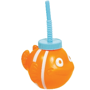 FISH Vaso con pajita