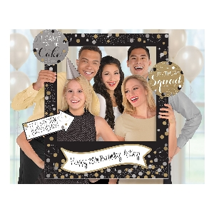 Photo Kit Gold Sparkling Celebration Add an Edad Giant Photo Frame with Props