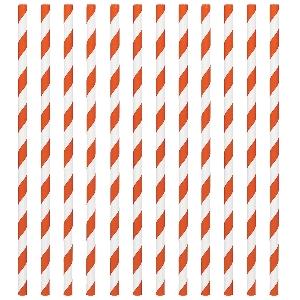 Pajitas Orange Peel Paper Straws 19cm