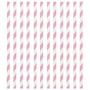 Pajitas New Pink Paper Straws 19cm