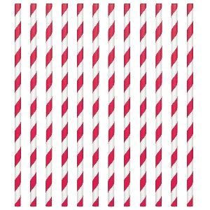 Pajitas Apple Red Paper Straws 19cm